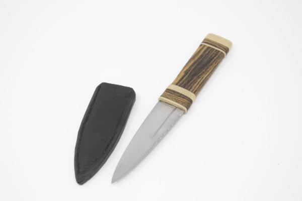 Pharlain & Lennox - Tiger Stripe with Brass Sgian Dubh black leather sheath